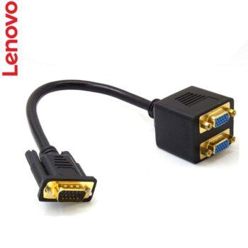تبدیل 1 به 2 vga, اتصال دو مانیتور به لپ تاپ , اتصال دو مانیتور به کیس لنوو , کابل 1 به 2 VGA اورجینال
