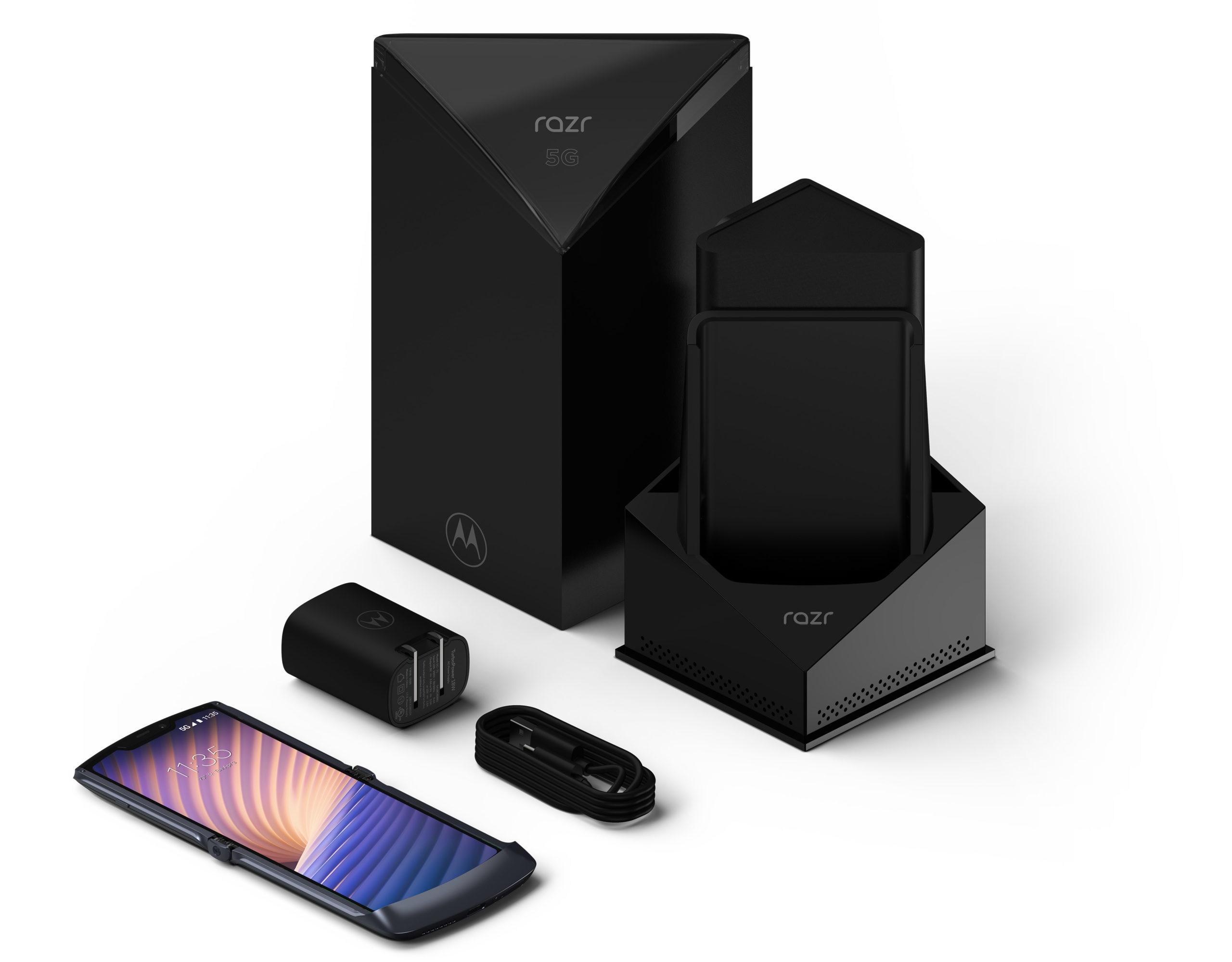 کارتن و جعبه تلفن هوشمند موتورولا Motorola Razr 5G