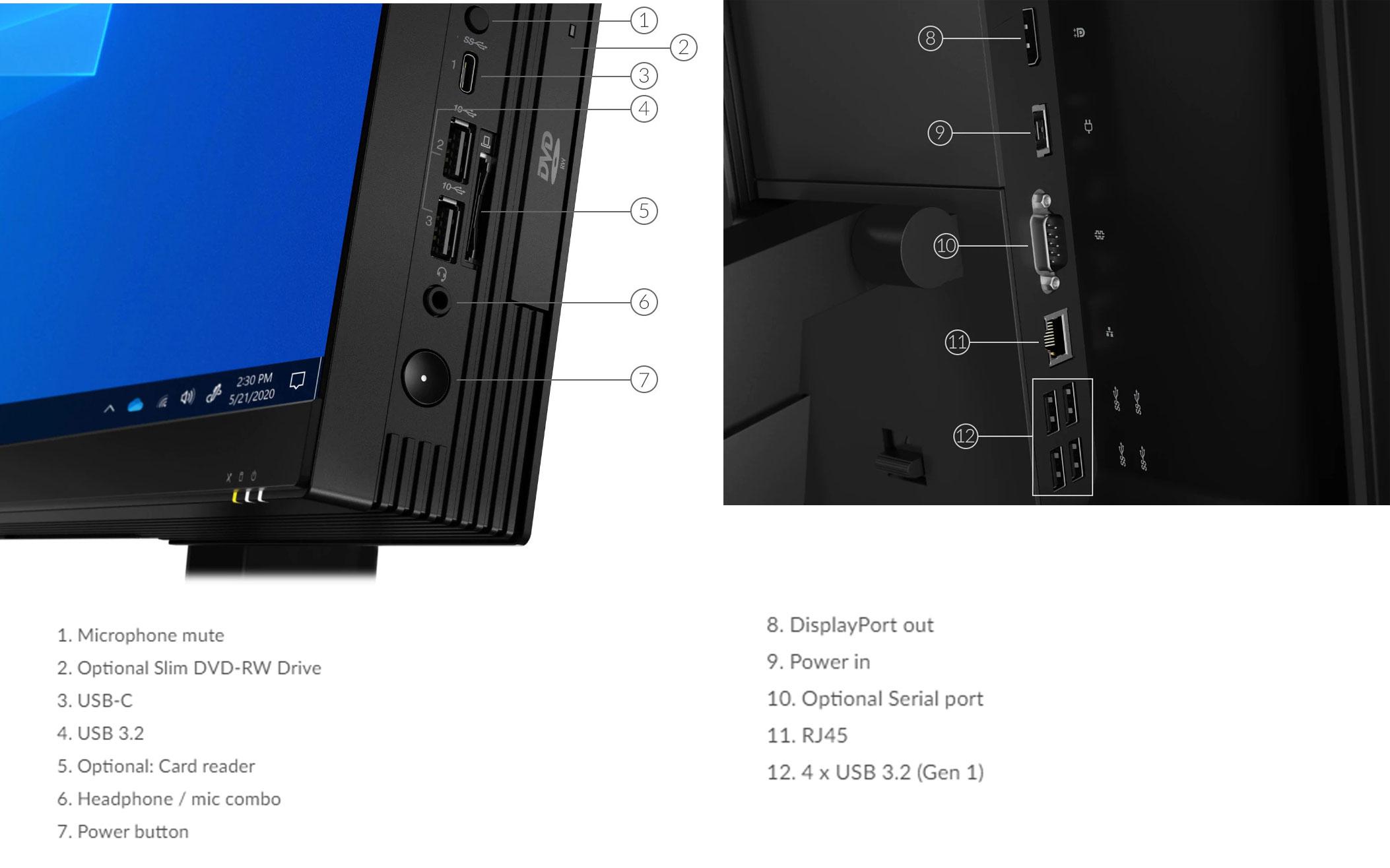 آل این وان لنوو مدل Thinkcentre M70a پردازنده i5