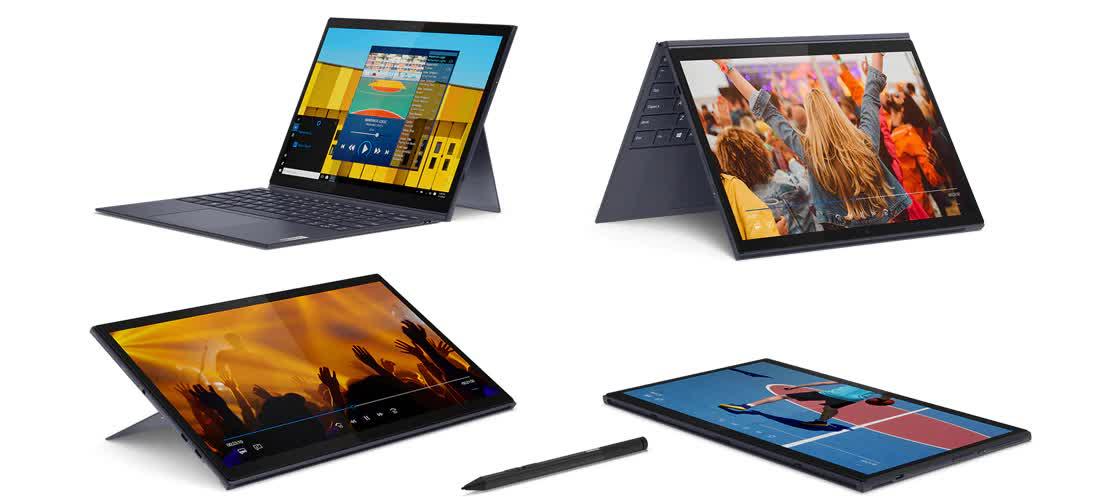 لپ تاپ لنوو مدل Yoga Duet پردازنده i7 (تبلت)